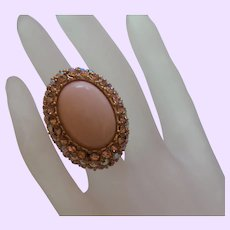 Vintage Faux Angel Coral Ring