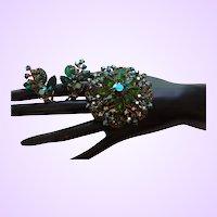 Beautiful Vintage High End Rhinestone Brooch and Earring Set