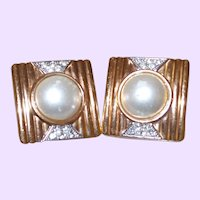 Vintage Lanvin/Germany Faux Pearl Earrings