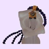 Artisan Amethyst Necklace with Crystal Quartz Pendant