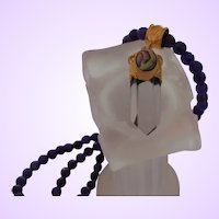 Artisan Amethyst Necklace with Crystal Quartz Pendant