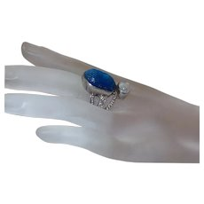 Sajen Sterling Silver Mirror Quartz Goddess Ring