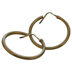 Italian 18 Karat Gold Hoop Earrings