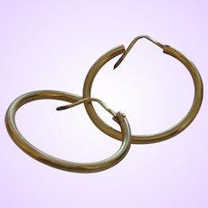 Italian 18 Karat Gold Hoop Earrings