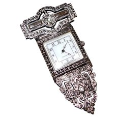 Victorian Revival Lapel Watch