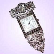 Victorian Revival Lapel Watch