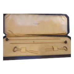 Antique Gold Hat Pin/Hair Pin/Veil Pin Set