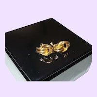Napier Love Knots Gold Tone Earrings