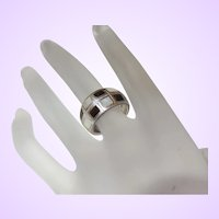 Sterling Silver Black Onyx Mother-of-Pearl Ring