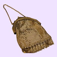 Vintage Whiting/Davis Gold Mesh Bag
