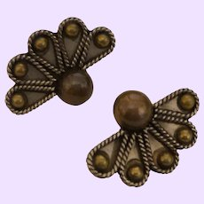 Vintage Mixed Silver/Brass Mexican Earrings