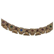 Vintage Victorian Revival Rhinestone Bracelet