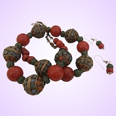 Hand Strung Glass Bead Necklace