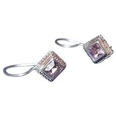 Victorian revival Amethyst Drop Earrings