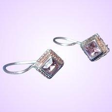 Victorian revival Amethyst Drop Earrings