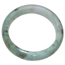 Vintage Green Jadeite Bangle Bracelet