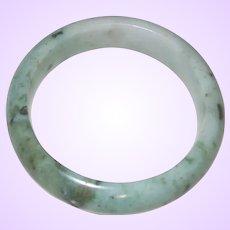Vintage Green Jadeite Bangle Bracelet