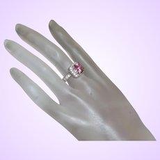 Premier Design Pink Rhinestone Ring