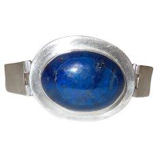 Sterling Silver Hinged Lapis Bracelet