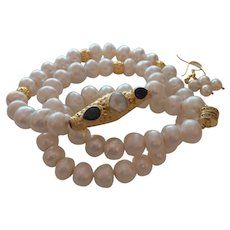 Baroque Pearl Necklace with Gold Plate Nepal Pendant