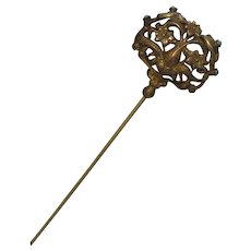 Victorian Hatpin with Persian Turquoise