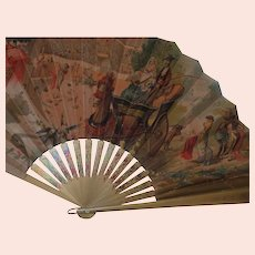 Hand Painted Spanish Souvenir Scene Fan