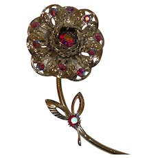 Signed Sarah Coventry Flower Brooch Pin