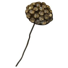 Victorian Hat Pin With Brilliant White Rhinestones