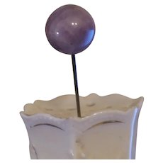 Victorian Purple Glass Hat Pin