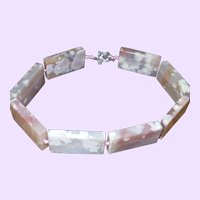 Hand Strung Strawberry Quartz Necklace on Silk Cord