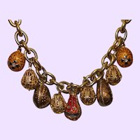 Vintage Joan Rivers Egg Necklace