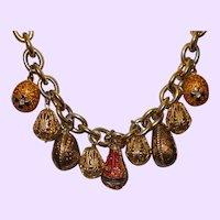 Vintage Joan Rivers Egg Necklace \