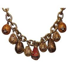 Vintage Joan Rivers Egg Necklace