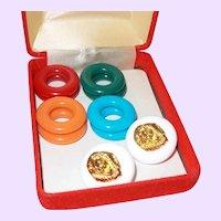 KJL Royal Lion Changeable Earrings Set