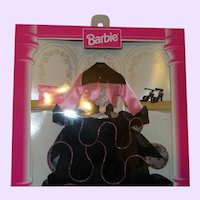 Fashion Avenue Collection Barbie Deluxe Pink & Black Evening Gown NRFB