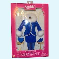 Barbie Fashion Avenue Mattel 1996 Boutique Blue Winter Suit NRFB