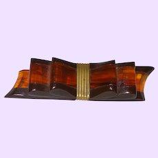 Art Deco Ribbon Bakelite Bow Brooch
