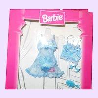 Barbie Fashion Avenue Blue Flowered Teddy Lingerie NRFB