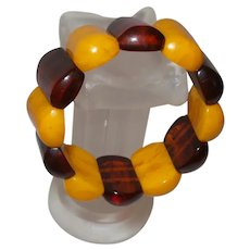 Art Deco Root Beer and Butterscotch Bakelite Bangle