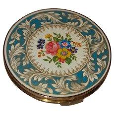 Stratton Vintage Enamel Floral Motif Compact
