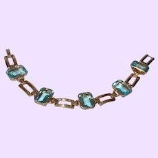 Vintage 1/20th 10 KYGF Blue Topaz Bracelet