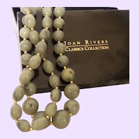 Vintage Joan Rivers Faux Jade Necklace