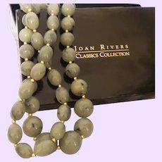 Vintage Joan Rivers Faux Jade Necklace