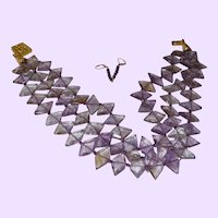 Gem Quality Ametrine and Amethyst Beaded Necklace