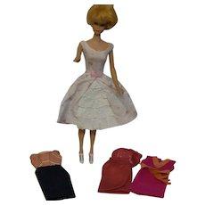Barbie Outfits #918 Dress, #931 Dress, #3401 Dress, and #1611