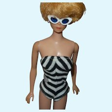 Barbie Iconic Zebra Swimsuit and Cat Eye Glasses