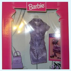 Barbie Fashion Avenue Lavender Colored Outfit # 20576-0980 NRFB