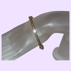 Rough Uncut Diamond Bangle Bracelet in Gold Vermeil
