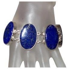Ethnic Four Stone Lapis Lazuli Bracelet