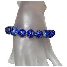 Artisan Created Lapis Lazuli Stretch Bracelet